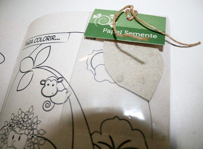 Cartilha do Homem-Árvore com Papel Semente