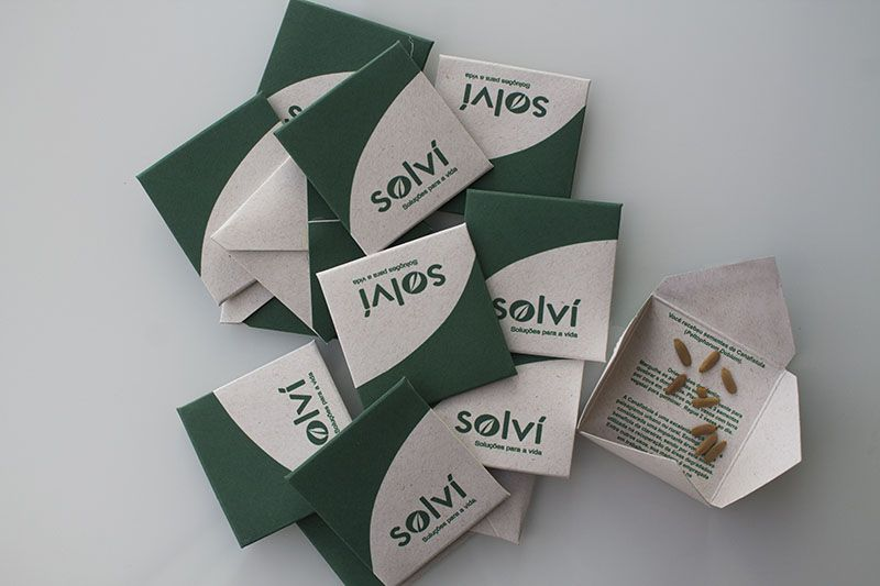 Tag Mini Envelope com Sementes