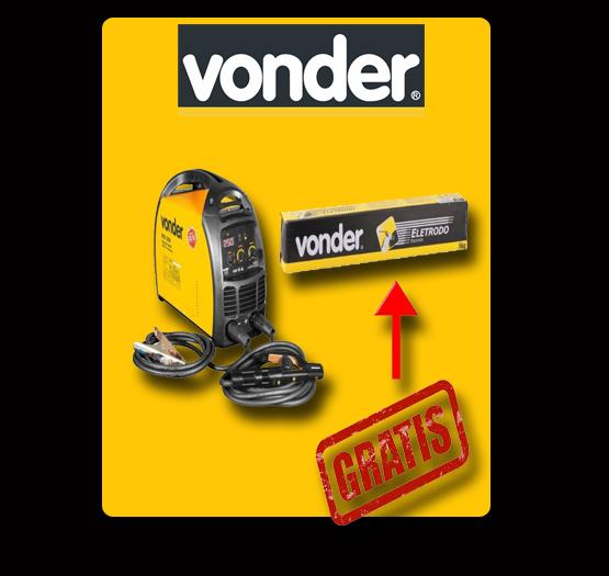 Máquina de Solda Bivolt Inversora Portatil - RIV222 - Vonder + BRINDE.