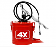 Bomba Manual para Graxa com Reservatório para 7 Kg