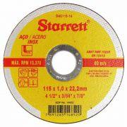 Disco de Corte 04 1/2 X 3/64 X 7/8 - INOX DAC115-14 Starret