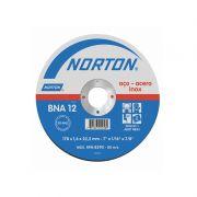 Disco de corte para inox 115 x 1,0 x 22,23 mm - Norton BNA12