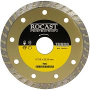 Disco Diamantado Turbo 115 x 22 mm para Esmerilhadeira - ROCAST-34.0009