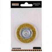 Escova de Aço Circular com haste 100 X 10 MM - STARFER