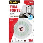 Fita 3M Scotch Fixa Forte Para Banheiros - 24Mm X 1,5M