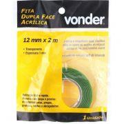 Fita Adesiva Dupla Face Fixa uso Interno 12 MM X 02 MT - VONDER