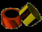 Fita Zebrada Preta E Amarela Para Demarcação 65mm X 150m