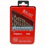 JOGO BROCA HSS 01,5 A 06,5 13 PCS