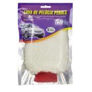 Luva para Lavar Carro Pelúcia Branca - Pérola