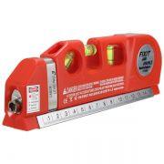 Nível A Laser Profissional Com Régua 15cm E Trena 2,5mts