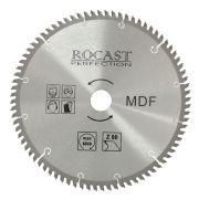 Serra Circular com Pastilha de Metal Duro para Madeira Mdf 250mm x 80 D Ref. MDF Rocast 121,0001