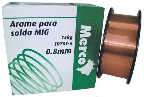Arame para Solda MIG 0,8 mm 15 kg - Merco