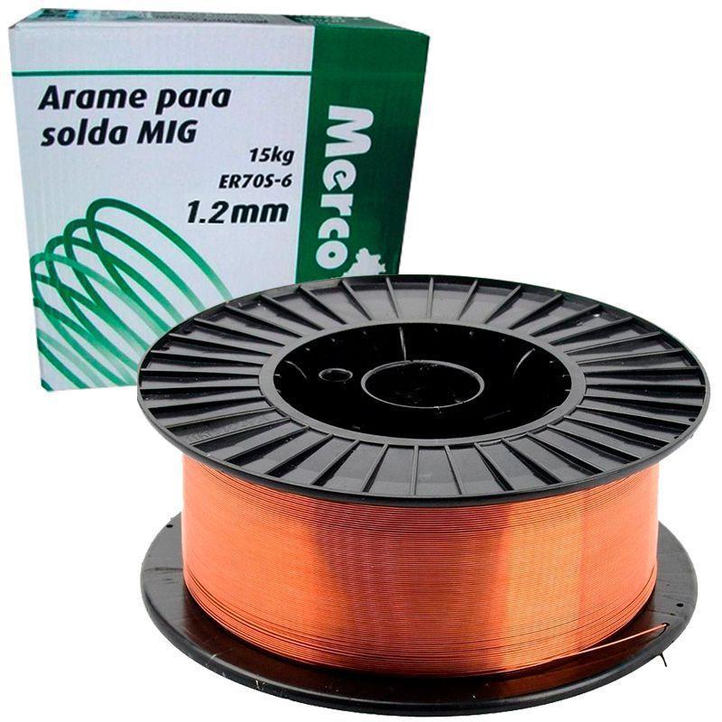 ARAME SOLDA MIG 1.2MM C/15 KG