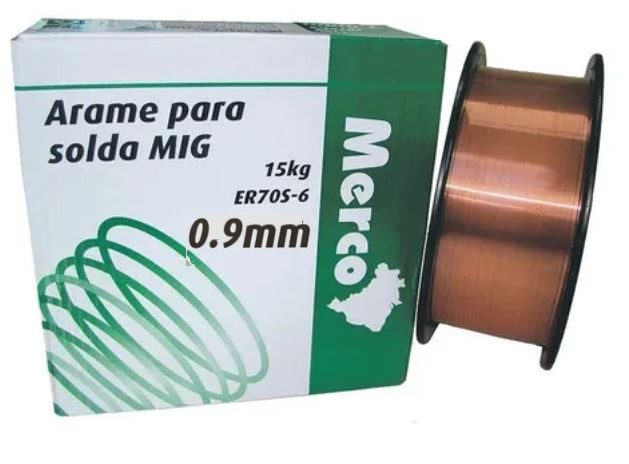 Arame para Solda MIG 0,9 mm 15 kg ER-70S6 - Merco