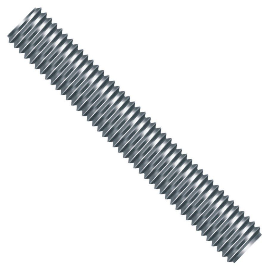 Barra Roscada (UNC) 3/16 x 01 MT Zincada