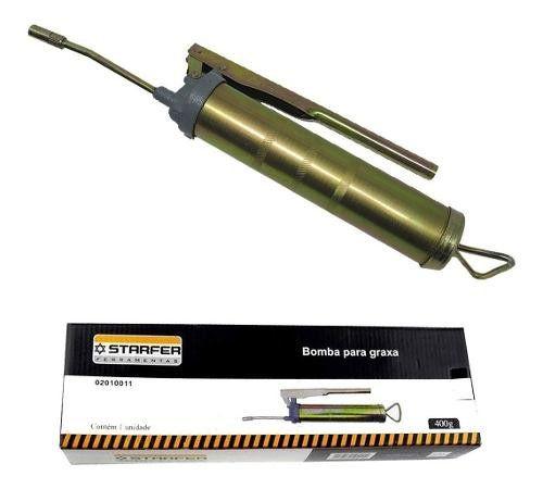 Bomba De Graxa Engraxadeira Manual 400gr Starfer