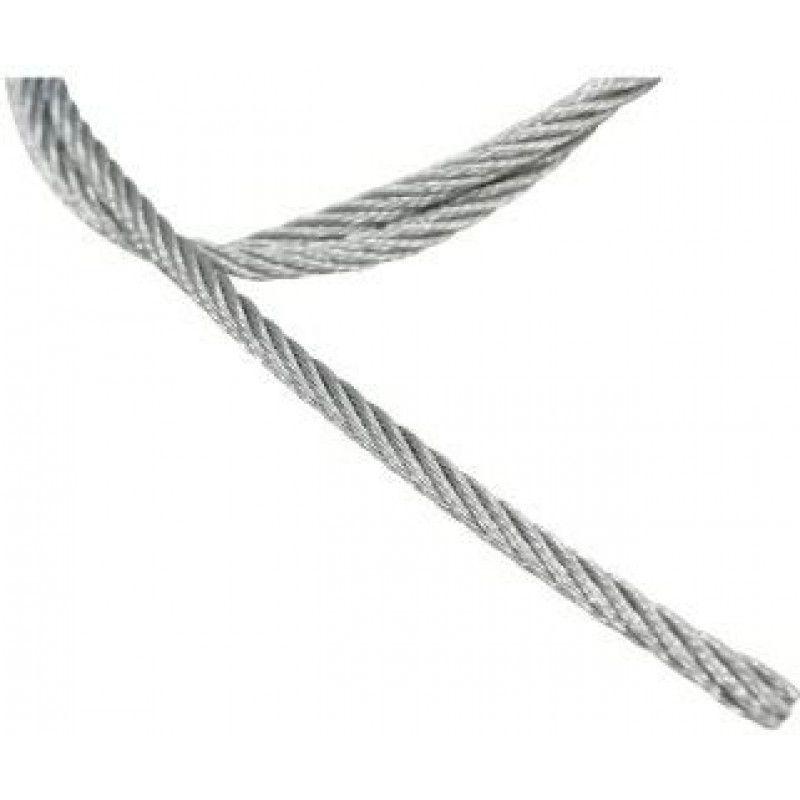"""Cabo de aço galvanizado alma de fibra 318 mm - 1/8"""" 6 x 7"""