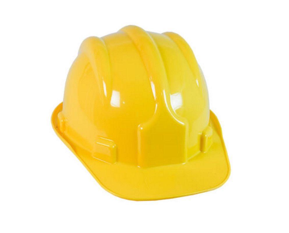 Capacete de Segurança Amarelo com Carneira - PRO SAFETY