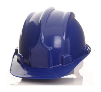 Capacete de Segurança Azul com Carneira - PRO SAFETY