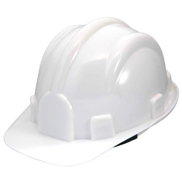 Capacete de Segurança Branco com Carneira - PRO SAFETY