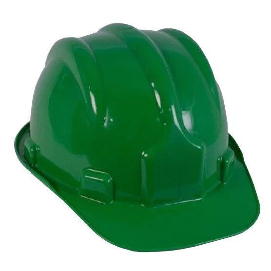 Capacete de Segurança Verde com Carneira - PRO SAFETY