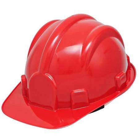 Capacete de Segurança Vermelho com Carneira - PRO SAFETY
