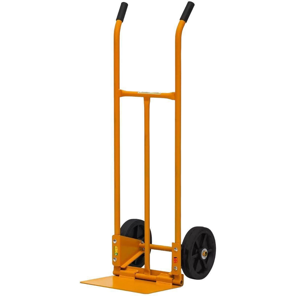 Carrinho Para Carga 200Kg Amarelo Chapa Aço Inox A200D - Lynus