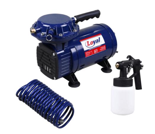 Compressor De Ar Direto Bivolt Com Kit Para Pintura-Loyal-Lc-500