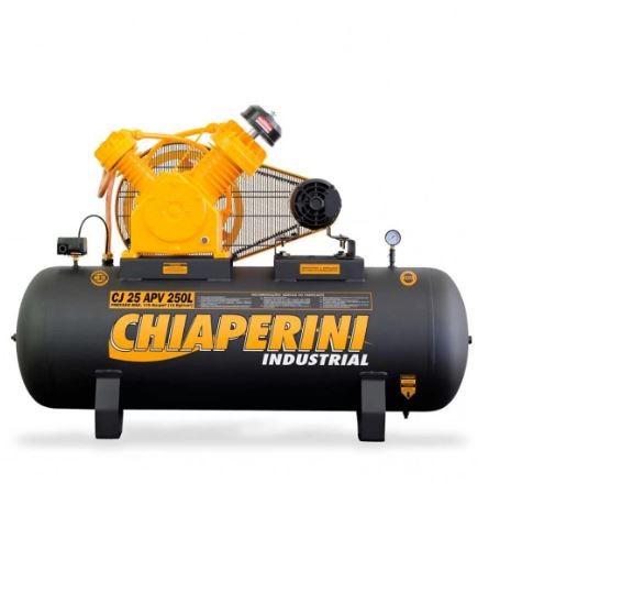 Compressor de ar 25 pés 250 litros 5 hp trifásico - CJ 25 APV 250L