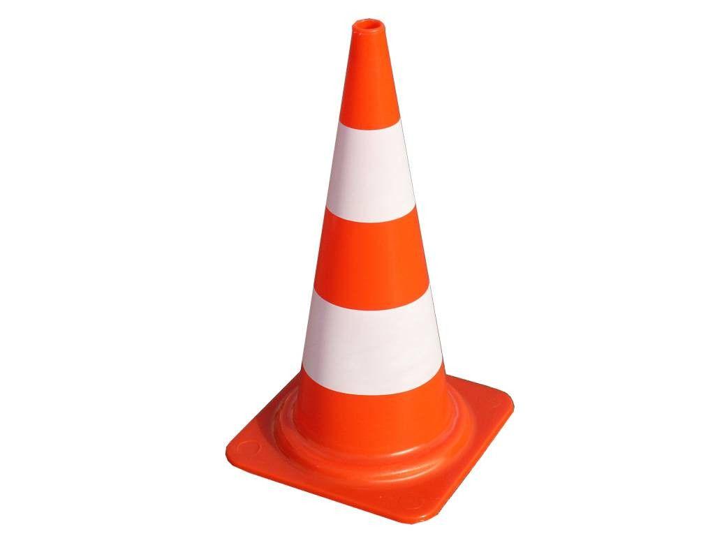 Cone Laranja/Branco de 50 cm - PRO SAFETY
