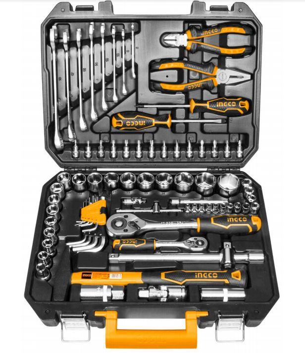 Conjunto ferramentas Profissional Ingco com 77 peças