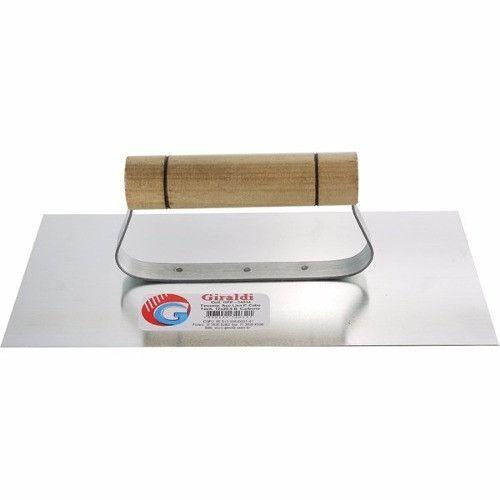 Desempenadeira de Metal Liso 12 X 25 CM - GIRALDI