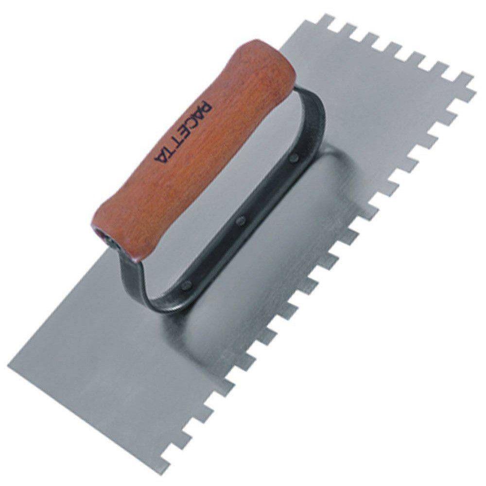 Desempenadeira em Aço Dentada 120 x 255 mm - PACETTA
