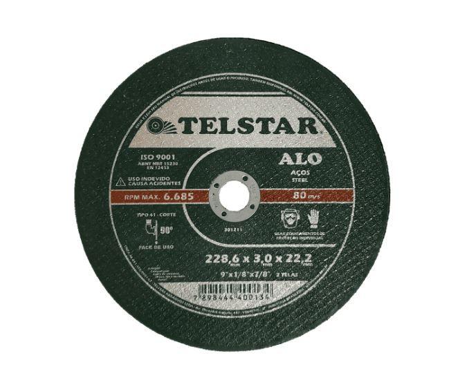 Disco corte ferro alo 2t 9 x 1/8 x 7/8 - telstar