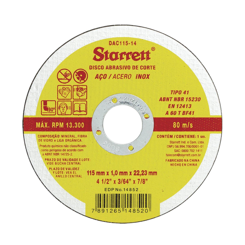 Disco de Corte para Metal Aço Inox 4.1/2