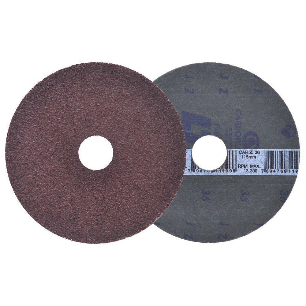 "Disco de Lixa 4.1/2"" Car55 Ltf Gr120 115x22 Carborundum"