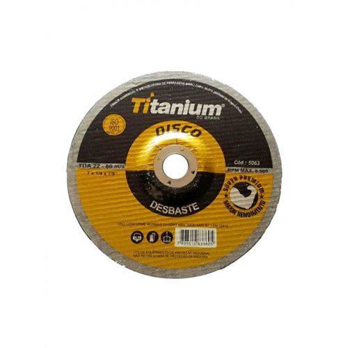 Disco Desbaste 7 Polegadas Titanium