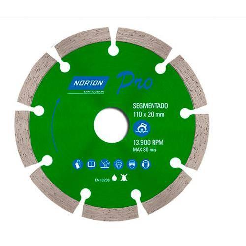 Disco Diamantado Segmentado Serra Circular 4.3/8 Norton