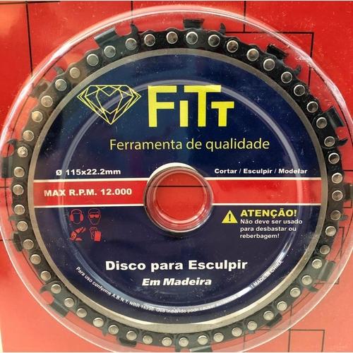 Disco para Esculpir em Madeira 4 1/2 x 22mm Fitt