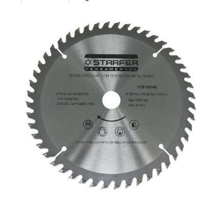 Disco Serra Circular Widea 7.1/4 184mm 48 Dentes Starfer