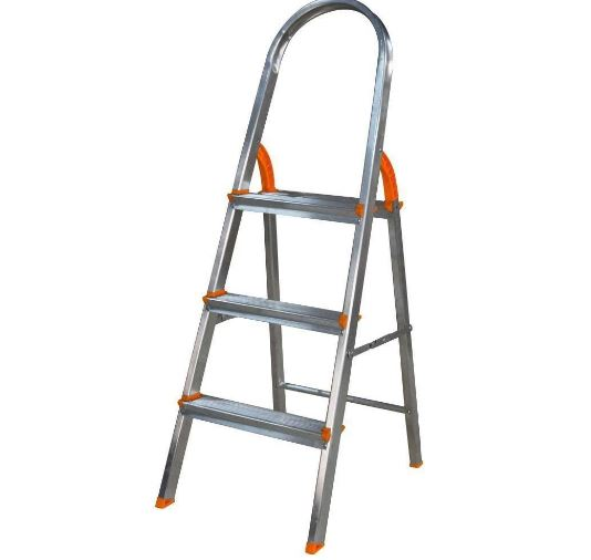 Escada 03 Degraus Alumínio Domestica - Agata Escada de Alumínio
