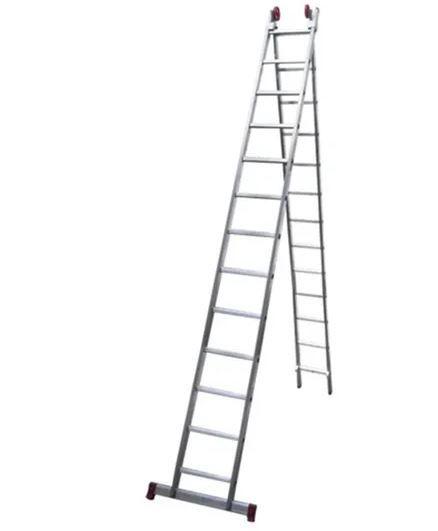 Escada 13 degraus alumínio extensiva