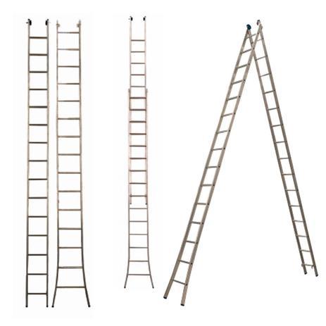 Escada alumínio extensível 2 x 15 degraus - Agata