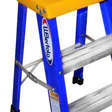 Escada banqueta em alumínio e Fibra de vidro 60cm com 3 Degraus BAFP3 - WBERTOLO