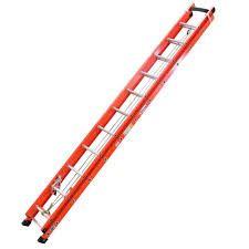 Escada de Fibra de Vidro Extensível 7,20m Degrau Alumínio Perfil Vazado EAFV-23  - WBertolo