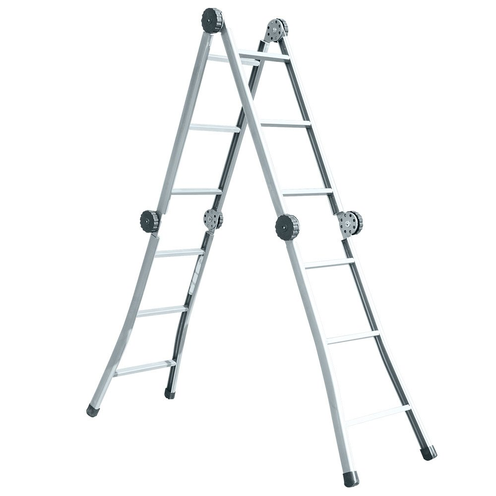 Escada Dobrável Multifuncional Aço Metalon 04 x 03 12 Degraus - Cadioli