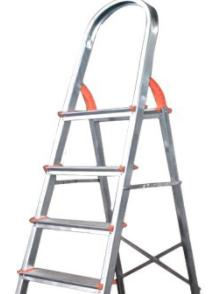 Escada Domestica em Alumínio 07 Degraus - Ágata