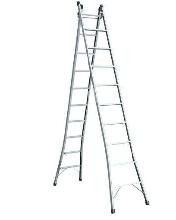 Escada Dose Dupla 10 Degraus 3,00 x 4,90 Metros Metalão.