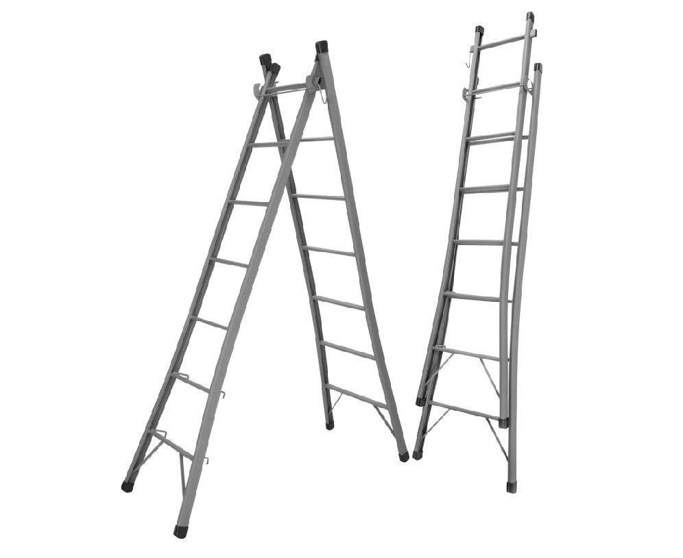 Escada Extensiva Dupla de 6 Degraus Metalão