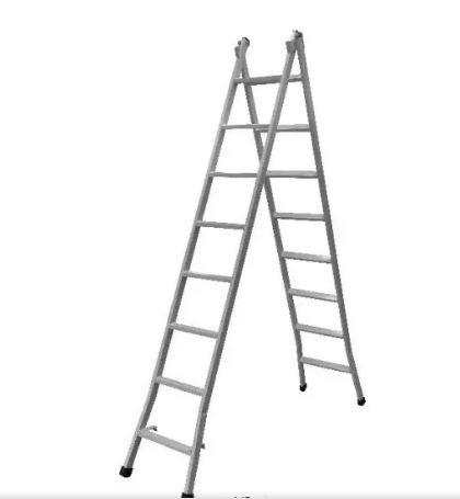 Escada Extensiva Dupla de 8 Degraus Metalão